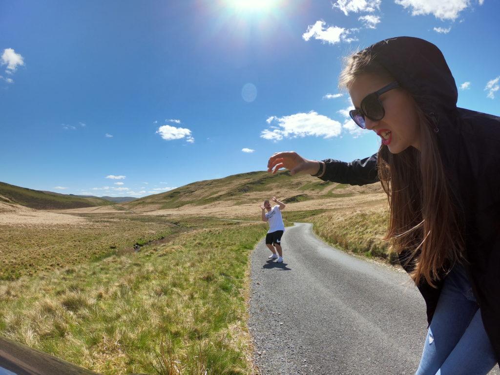 my dva na cestě Walesem