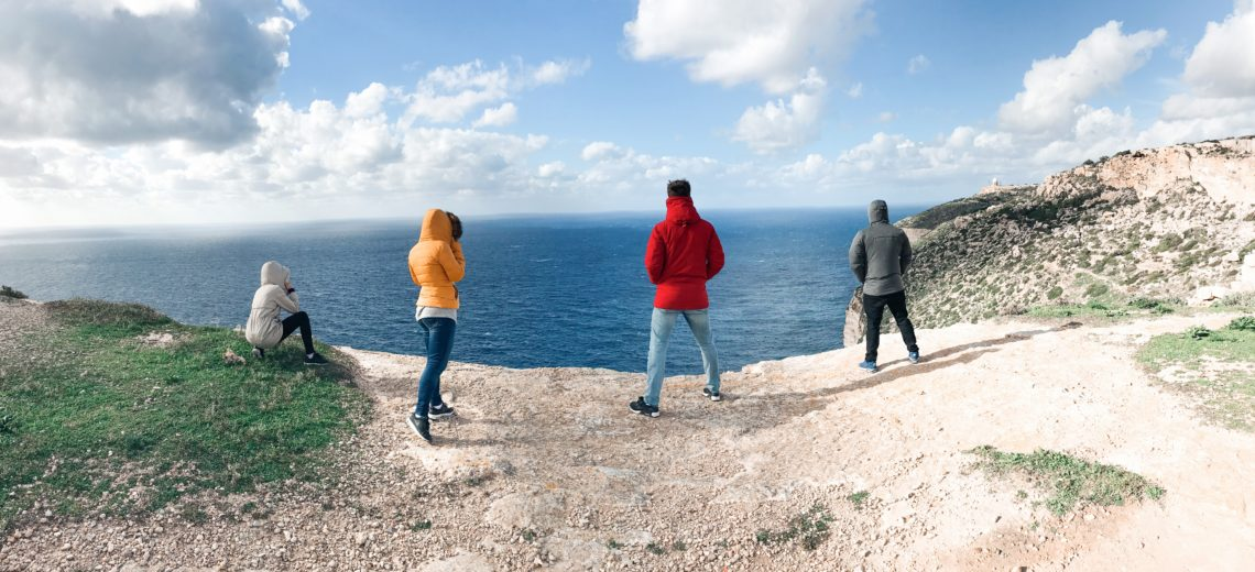 Malta, první cestování na vlastní pěst.