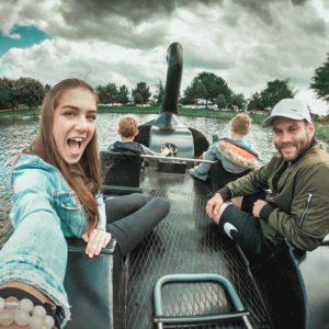 Aupair couple na výletě s dětmi