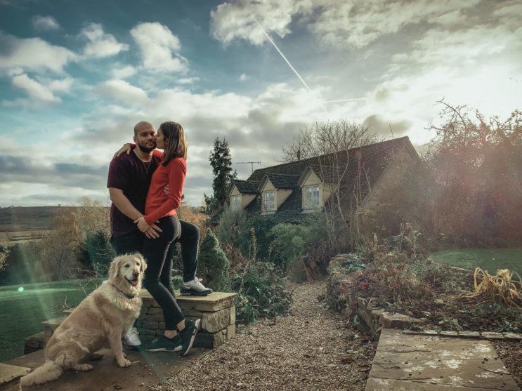 Aupair couple s výhledem na anglii