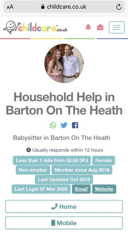 website childcare aupair couple