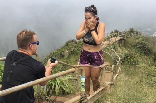 Žádost o ruku na Hawaii