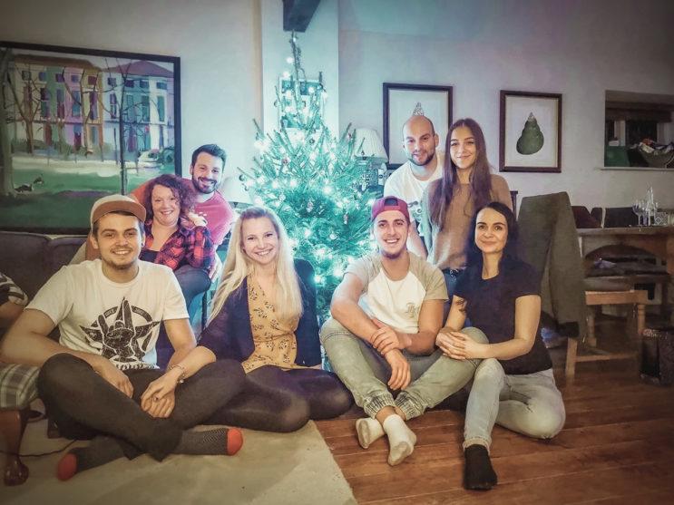 Aupair couple v anglii slavili vánoce