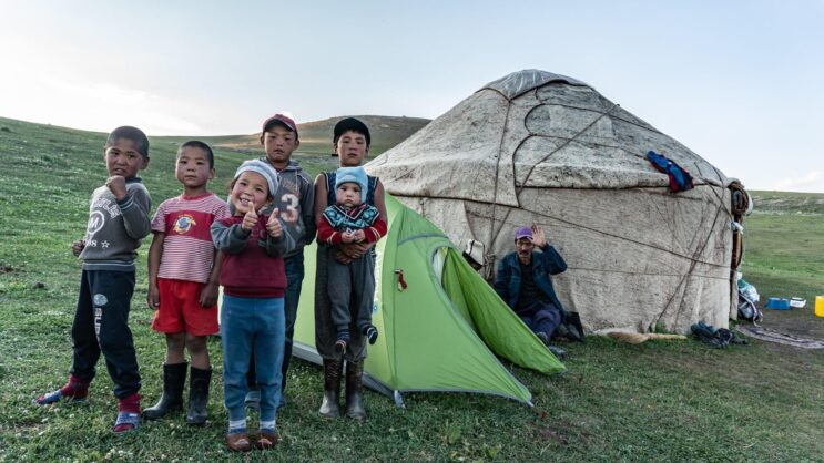 Děti v mongolsku