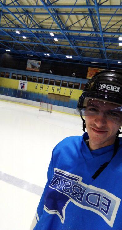Jiří Csirik na hokeji